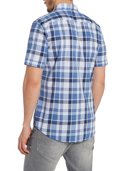 Hugo Boss Check Short Sleeve Slim Fit Shirt
