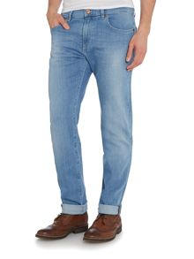 Maine Straight Leg Light Wash Mid Rise Jeans