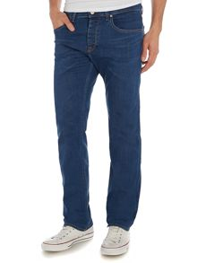 Maine Straight Leg Medium Wash Mid Rise Jeans