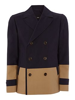 Double Breasted Button Up Pea Coat