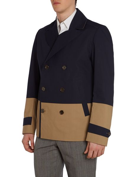 Hugo Boss Double Breasted Button Up Pea Coat