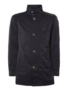 Showerproof Button Up 3/4 Length Jacket