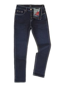 Delaware Jean In Medium Wash With Contrast Stitch