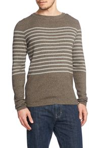 Crew Neck Jumper In Stripe