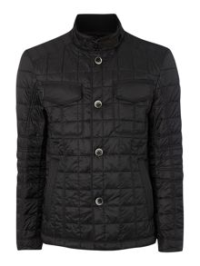 Funnel Neck Quilted Jacket
