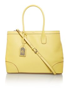 Fairfield yellow cross body tote bag