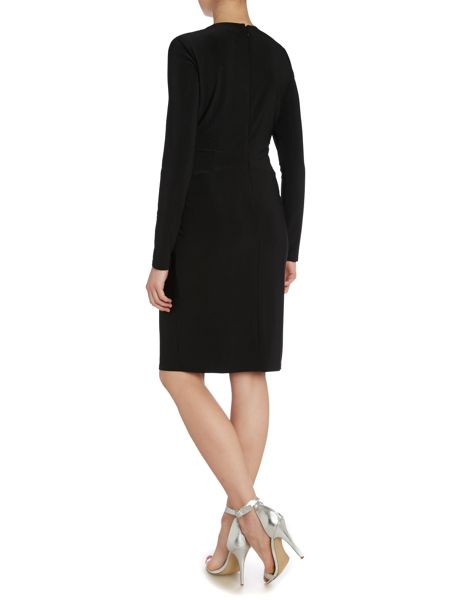 Vince Camuto Embellished neck dress with front knot detail