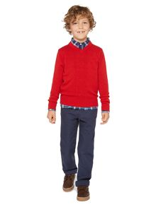 Howick Junior Boys lambswool v neck jumper