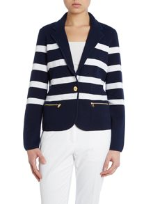 Cotton stripe blazer