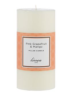 Pink Grapefruit & Mango Pillar Candle