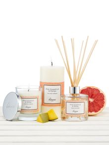 Linea Pink Grapefruit & Mango Pillar Candle
