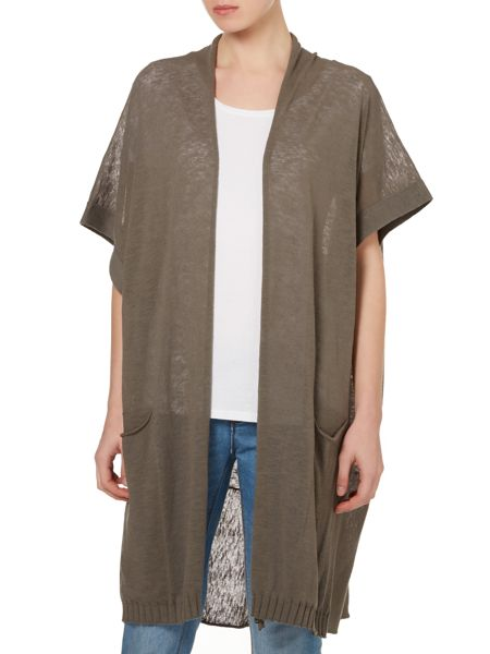 Crea Concept Knitted long cardigan with short sleeve