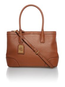 Fairfield tan cross body tote bag