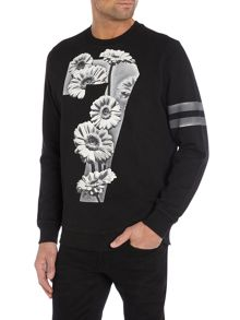 Graphic Crew Neck Pull Over