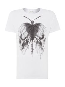 Butterfly Skull Graphic T-Shirt