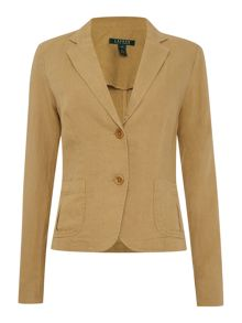 Linen one button blazer