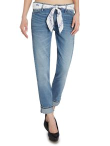 Lee Sallie slim boyfriend jean in summer selvage
