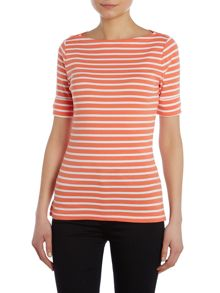 Lauren Ralph Lauren 1/2 Sleeve top with crew neck