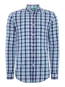 Benetton Check Classic Fit Long Sleeve Shirt