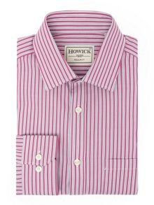 Howick Tailored Silbert Double Stripe Shirt