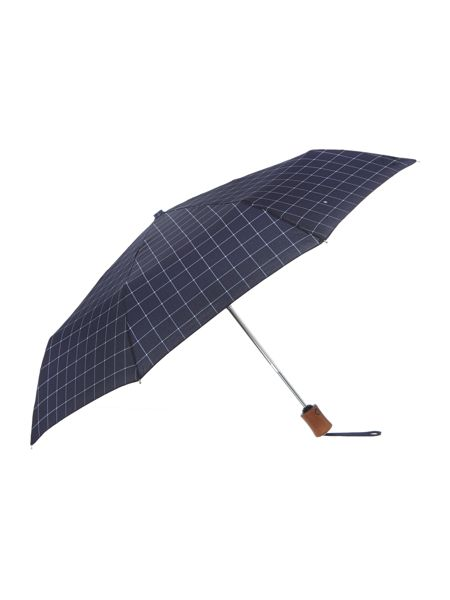 Fulton Hoxton Window Pane Check Umbrella