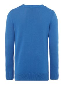Boys knitted crew neck jumper