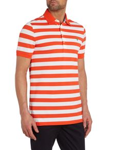 Stripe Performance Pique Regular Fit Polo Shirt