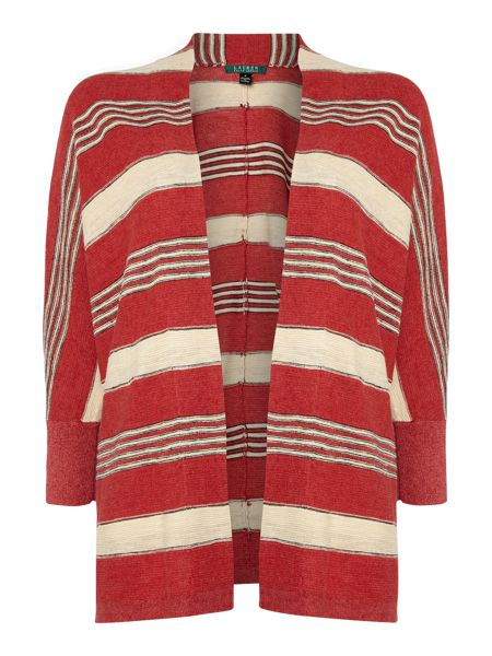 Lauren Ralph Lauren Striped open front cardigan