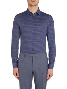 Kenneth Cole Jude Geometric Triangle Print Shirt