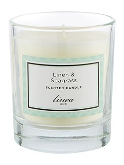 Linen & Seagrass Single Candle