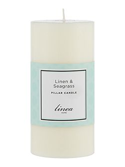 Linen & Seagrass Pillar Candle