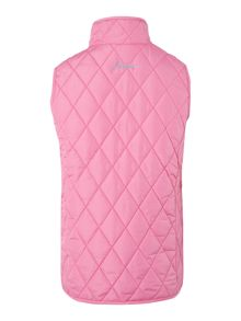Girls quilted gilet jacket