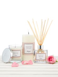 Linea English Rose Pillar Candle