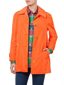 Bright trench coat