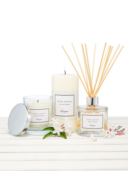Linea White Jasmine Single Candle