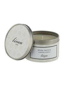 Linea White Jasmine Tin Candle
