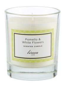 Linea Pomello & White Flowers Single Candle