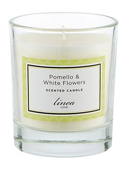 Pomello & White Flowers Single Candle