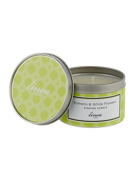 Linea Pomello & White Flowers Tin Candle
