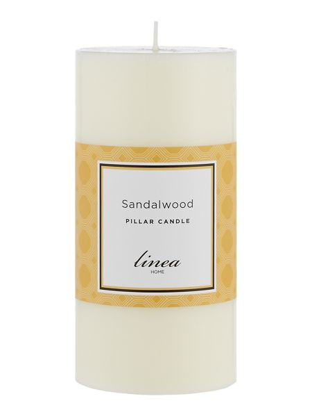 Linea Sandalwood Pillar Candle