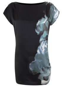 Joanna Print Ruched Side Tunic