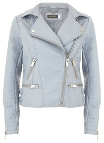 Bluebell Faux Leather Biker Jacket