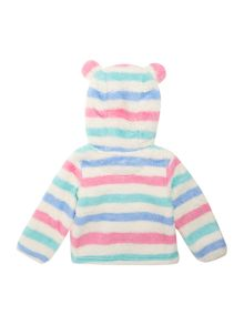 Baby girls fleece hooded jacket with ears