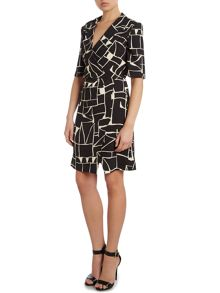 Tara Jarmon Printed wrap dress