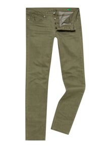 Coloured Wash Mid Rise Jeans