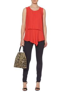 Biba Pleat detail sleeveless blouse