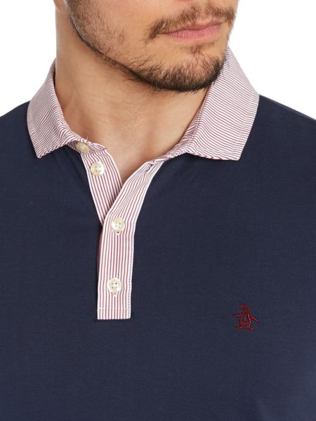 Original Penguin Contrast Collar Slim Fit Polo Shirt