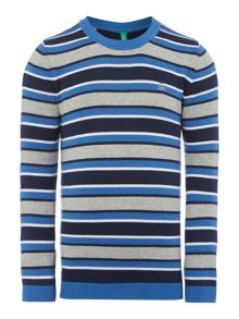 Boys stripe crew neck jumper