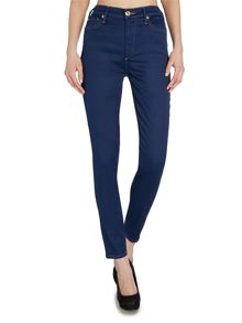 Halle high rise skinny jean in regale ave