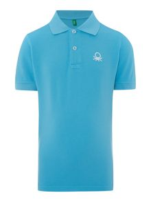 Boys short sleeved logo polo